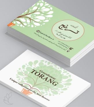 کارت ویزیت گل و گیاه طرح 1
