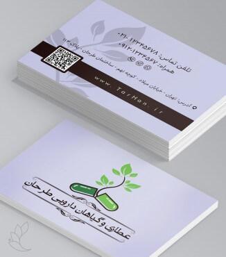 کارت ویزیت عطاری و گیاهان دارویی طرح 4